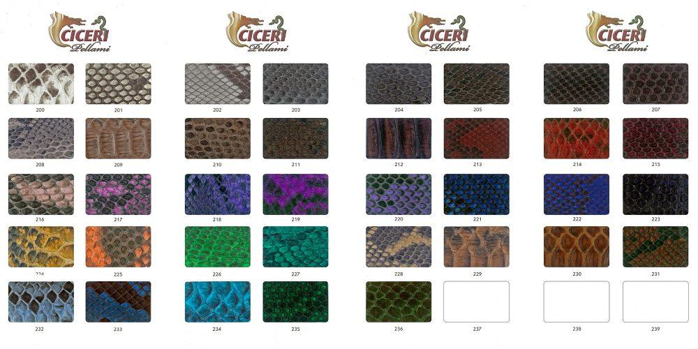 Cartella colore serie 500 Pellami Ciceri