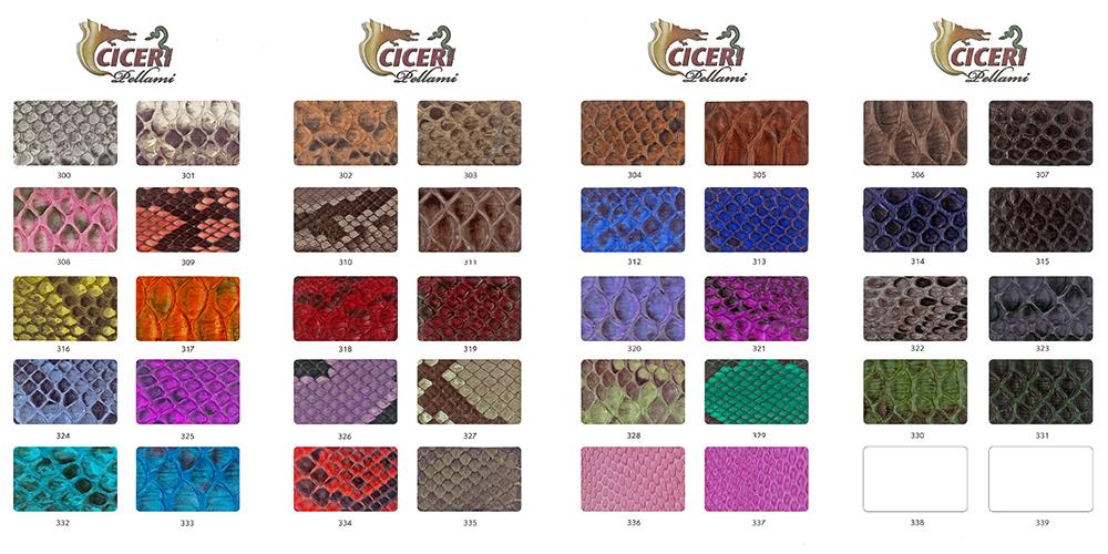 Cartella colore serie 300 Pellami Ciceri
