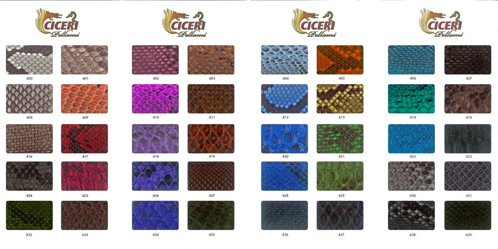 Cartella colore serie 200 Pellami Ciceri