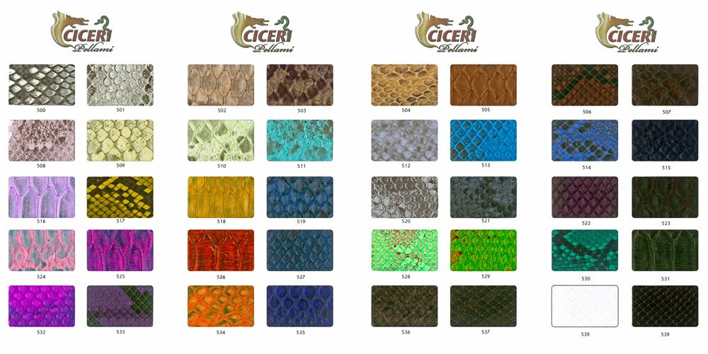 Cartella colore serie 400 Pellami Ciceri